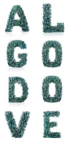 Растровый клипарт - Еловые буквы