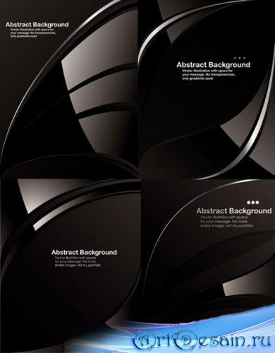 Абстрактные бэкграунды в черно-белых тонах