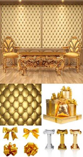 Растровый клипарт - Золотой декор