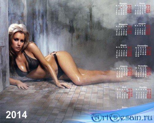 Девушка в купальнике - Календарь 2014