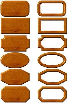 Деревянные рамки и таблички PSD