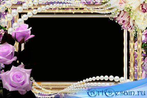 Романтическая рамка для фотошопа – Мир цветов