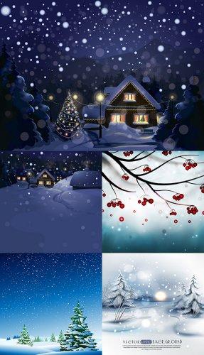 Векторный клипарт - Здравствуй зима