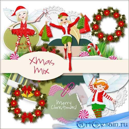 Рождественский скрап-комплект - Рождественский микс