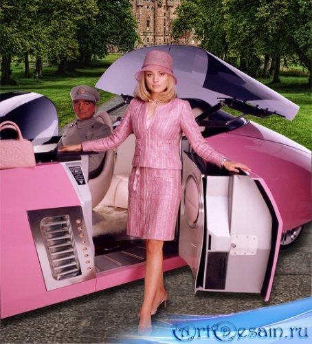 Шаблон  женский - Розовая мечта