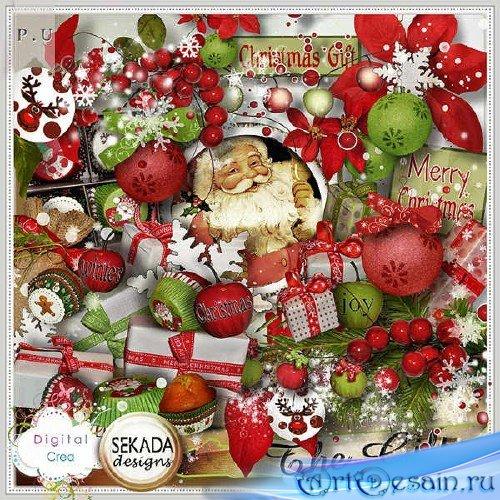 Праздничный скрап-набор - The Gift