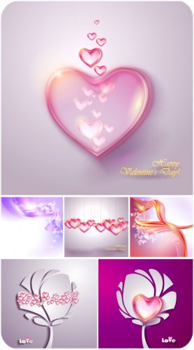 С днем святого Валентина, сердечки, креатив - вектор