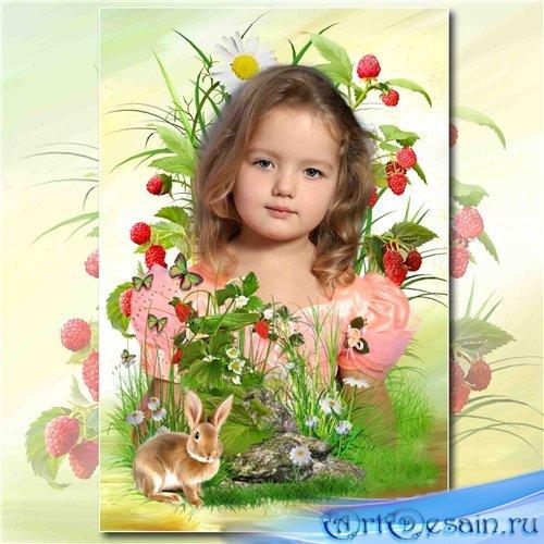 Рамка с природой для фотографий – Ягоды малины