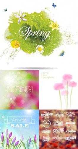 Векторный клипарт - Весна