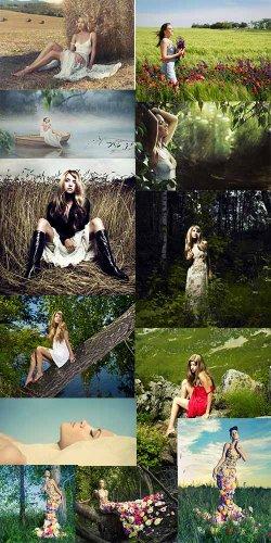 Нежные и загадочные женские образы на природе