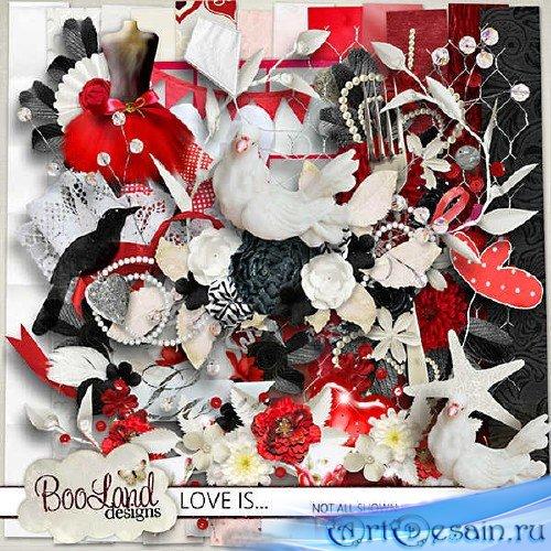 Романтичный скрап-набор - Любовь это...