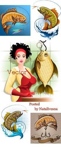 Рыба в Векторе