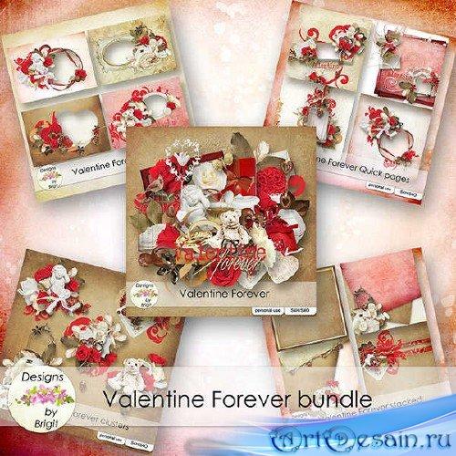 Романтичный скрап-набор - Валентин навсегда