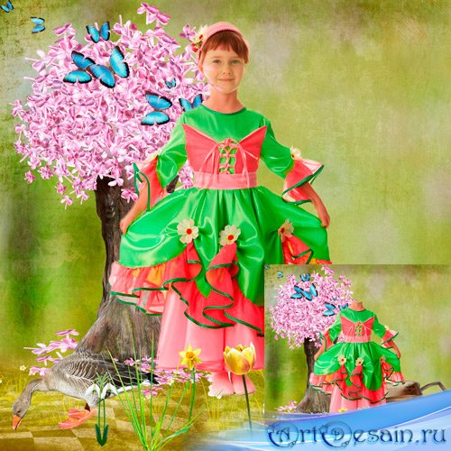 Шаблон для фотошопа - Весна