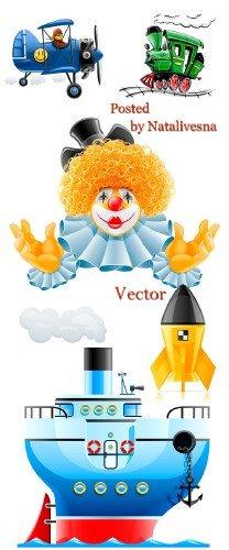 Подборка векторный клипарт – Детский праздник