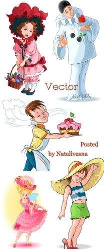 Подборка клипарта в векторе – Персонажи сказок и мультиков