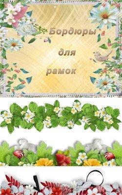 Цветочные бордюры в формате PNG