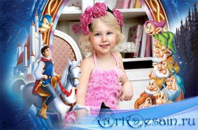 Рамка детская - В гости к сказочным героям