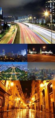 Растровый клипарт - Ночные города