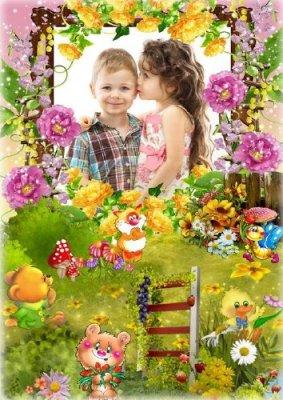 Детская сказочная рамка для фото - В стране чудес