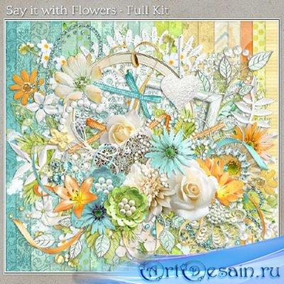 Романтичный скрап-набор - Поговорим цветами