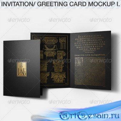Смарт шаблон открытки - Invitation & Greeting Card Mockup Pack I