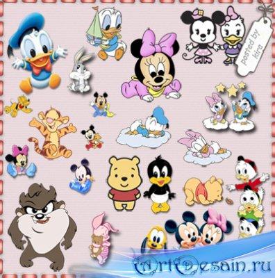 Детский клипарт - Винни Пух, Микки Маус и другие герои мультфильмов в детст ...