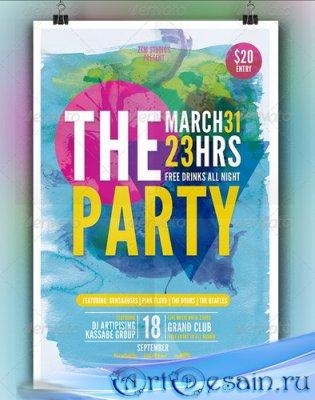 PSD Шаблон флаера - The Party | Flyer Template
