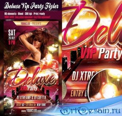 Шаблон постера - Deluxe Vip Party Flyer