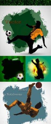 Футбол -  Фоны в Векторе