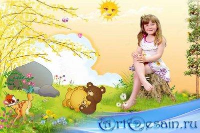 Шаблон детский – Летнее настроение