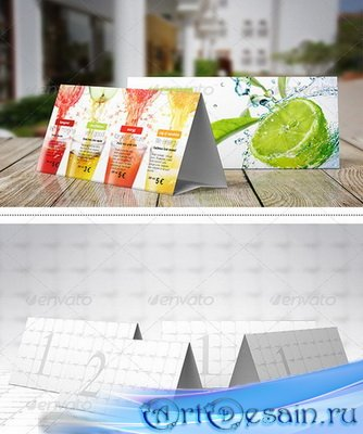 PSD - Paper Table Tent Mock-Up