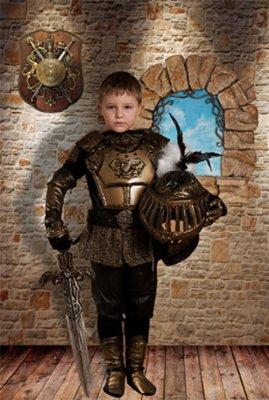 Шаблон  детский - Маленький рыцарь