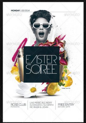 PSD - Easter Soiree Flyer Template PSD