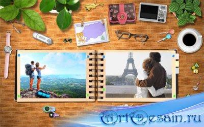 Рамка для фотошопа - Книга летнего отдыха