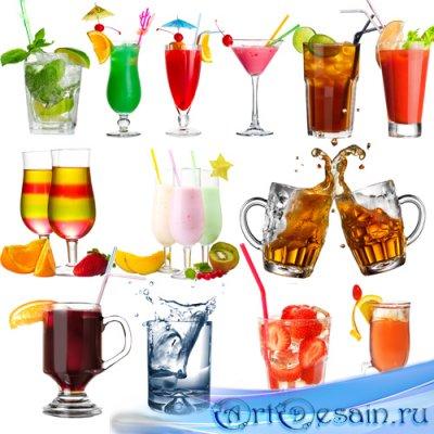 Клипарт – Летние напитки и коктейли