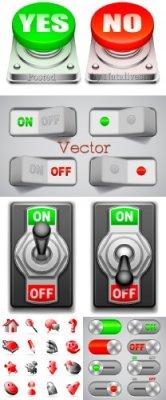 Кнопки для Дизайна в Векторе