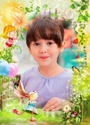 Детская рамочка - Сказочная лесная долина