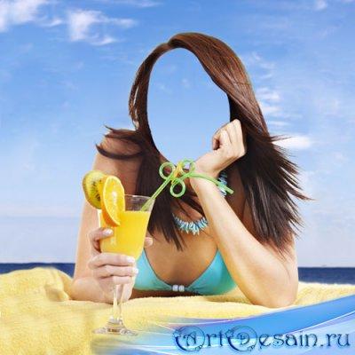 Шаблон psd - Отдых на пляже