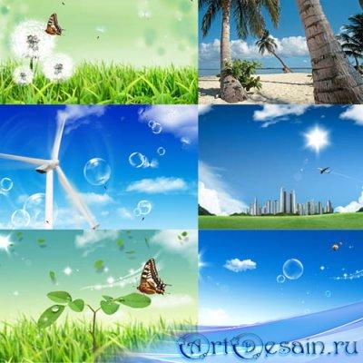 Фоны для фотографий - Солнечное лето