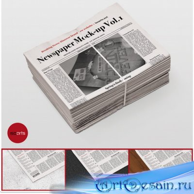 PSD - Mock-Up - Newspaper Vol.1 - 7670527