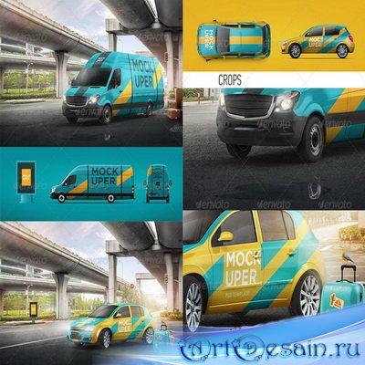 PSD - Van & Car Mock-Ups (2 PSD)