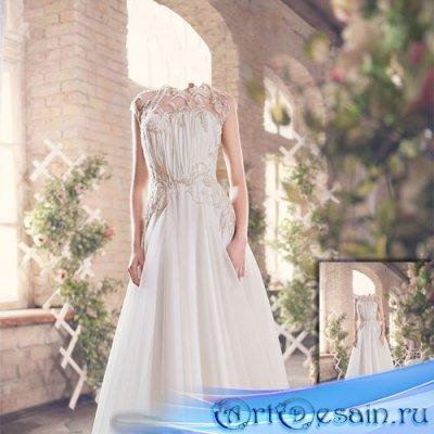 Фотосессия в красивом платье - Шаблон для фотомонтажа