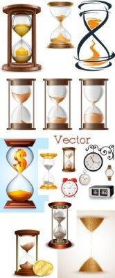 Песочные часы в Векторе – Минутки жизни пробегают