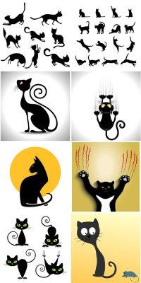 Черные коты в векторе