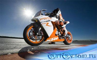 Шаблон для мужчин - Езда на спортивном мотоцикле