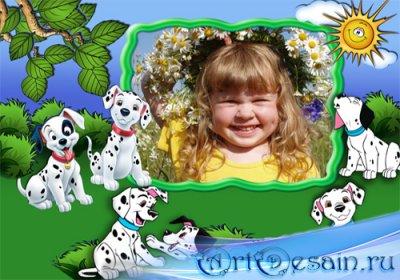 Рамка детская – Весёлые далматинцы