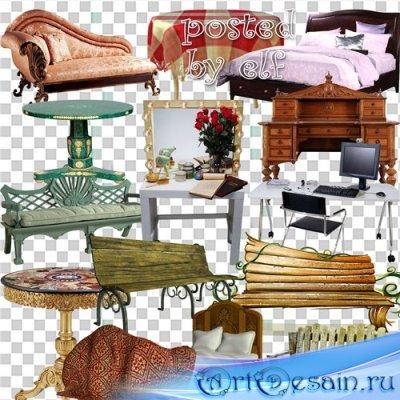 PNG клипарт - Столы, кровати, лавочки