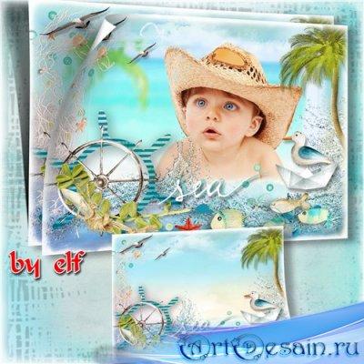 Рамка для фото - Море, солнце и песок