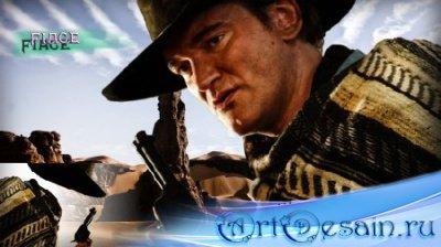 Фотошаблон для монтажа - Ковбой с револьвером